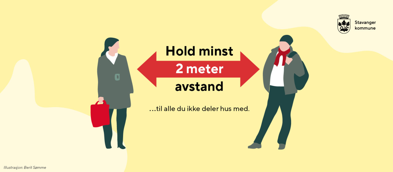 Hold to meters avstand