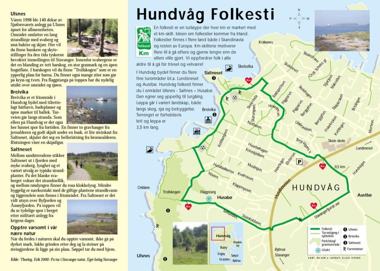 kart over hundvåg Folkestier i Stavanger | Stavanger kommune kart over hundvåg
